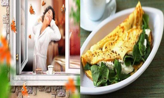 Morning Brightening Spinach Omlette Breakfast Recipe