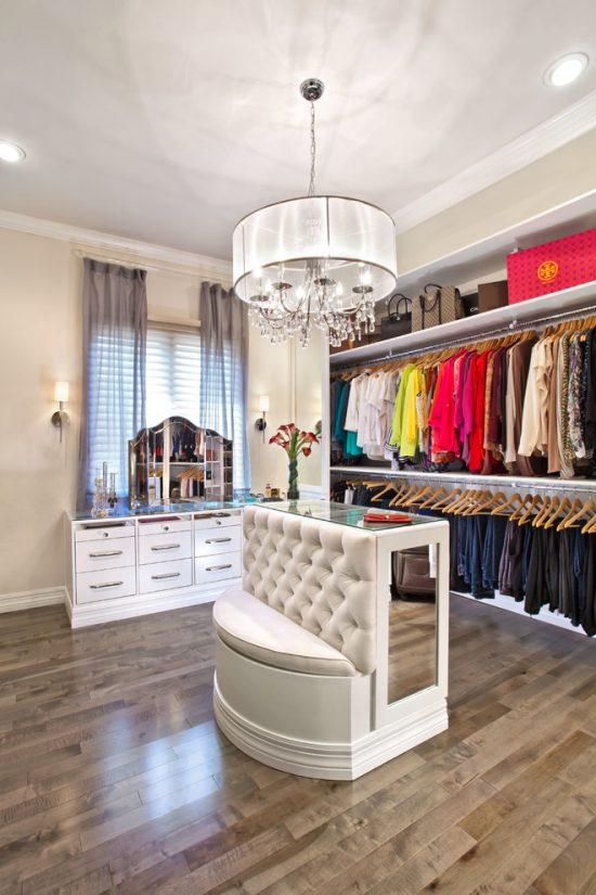 Take the most advantage of your walk-in closet with 2016 creative and contemporary design