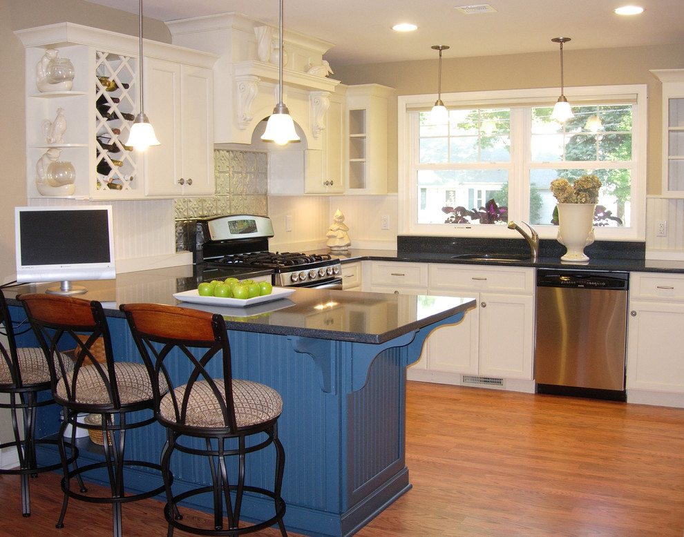 Think smartly when designing your small kitchen and use space-saving solutions