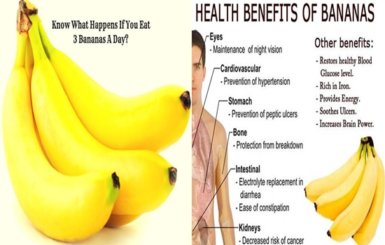 benefits you will get by Eating 3 bananas a day!