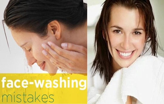 mistakes while washing your face