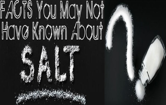 Photo of some exciting funfacts about salt!