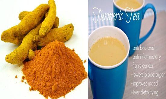 turmeric tea on an empty stomach every day