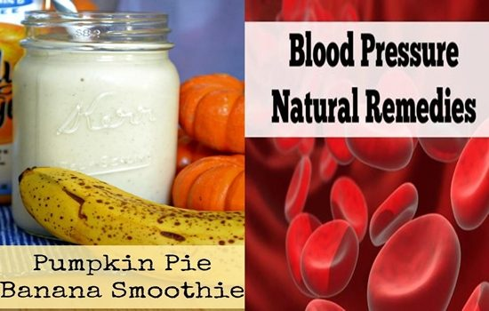 Energy Boosting Pumpkin And Banana Smoothie For High Blood Pressure