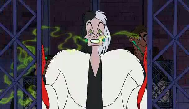 List Of The Most Evil Disney Villains Of All Gruella De Vil101 Dalmatians
