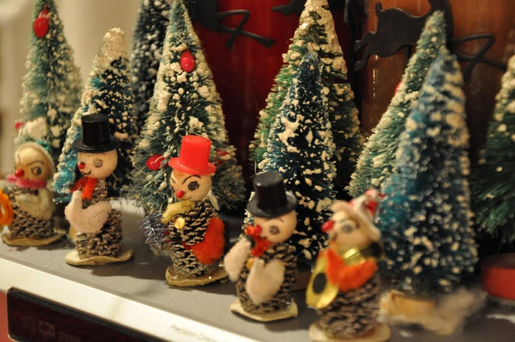 Photo of Vintage Christmas decorations; warm and nostalgic holiday's gathering